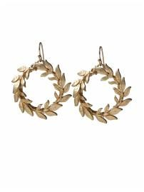 Tinley Antique Gold Wreath Earrings