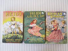 VINTAGE 1950s HEIDI collection by Johanna Spyri - Heidi, Heidi grows up, Heidi's children