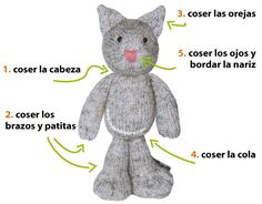 Gato ninja (knitted ninja kitten) - Tejiendo Perú Knitted Cat, Knitted Animals, Knitted Dolls, Crochet Toys, Crochet Baby, Addi Express, Knitting Dolls Clothes, Little Cotton Rabbits, Toy Puppies
