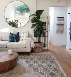 """Up bright and early today. The kids decided to hit the ground running at The word """"Saturday"""" means nothing around here. Oh well,… Wool Wall Hanging, Wall Hangings, Low Coffee Table, Scandi Home, Dining Room Inspiration, Living Room Remodel, Interior Styling, Interior Design, House Colors"""