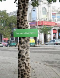"Environmental Awareness: ""SNOW LEOPARD"" Outdoor Advert by Rmg David"