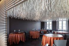 quentin de coster lianes l'air du temps restaurant polyester rope belgium designboom