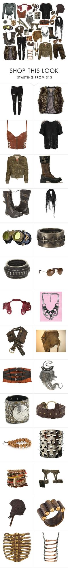 """Post Apocalyptic Couple"" by n0face ❤ liked on Polyvore featuring CC, Levi's, BKE, Ashish, Burberry, Timberland, Firetrap, AllSaints, Ray-Ban and Úna Burke"