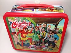 TIN 1970s ALADDIN EL CHAPULIN COLORADO ROBERTO GOMEZ BOLANO LUNCHBOX MADE USA