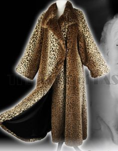 Wallis Vintage leopard faux fur coat. Found in Salvation Army charity shop.