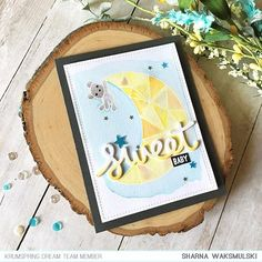 Today I am up on the @krumspring_ blog with this new baby card. I combined two stamp sets Shoot for the Moon and Fly me Away. Hope you like how it turned out! If you get a chance leave me some love on the blog! (Link in profile)    #krumspringstamps #krumspringdreamteam #cardmaking #cardsbysharna #babycard #newbaby #handmadecards #makersmovement #makersgonnamake #handmade