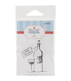 Gourmet Rubber Dad's Wine Cling Rubber Stamps