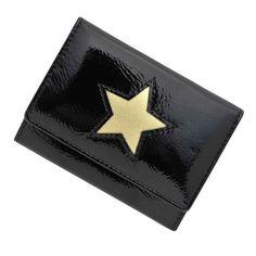 【送料無料】 極小財布 進藤やす子コラボ「エナメル」星型ブラック BECKER(ベッカー)日本製