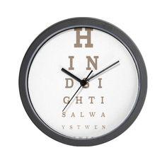 Hindsight Wall Clock