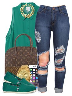 """""""52215"""" by polyvoreitems5 ❤ liked on Polyvore featuring moda, Monki, Louis Vuitton, Michael Kors, TOMS y Pluma"""