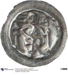 Deutscher Orden Münze Ab 1233 Nominal: Brakteat, Material: Silber, Druckverfahren: geprägt Gewicht: 0,27 g Durchmesser: 19 mm