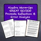 Included in this bundle are 6 weeks worth of daily Algebra 1 math warm-ups.  Student versions and teacher versions are included, as well as detaile...