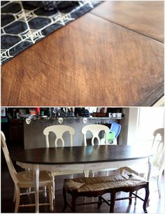 DIY Table Makeover and DIY Chalk Paint