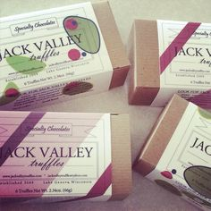 Custom gift pkg. @ www.jackvalleytruffles.com