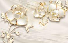 Fototapeta Białe i złoto Wallpaper Ceiling, Photo Wallpaper, Wall Wallpaper, Welcome Images, 3d Wall Murals, Fine Sand, Wallpaper Online, Designer Wallpaper, Magazine Design