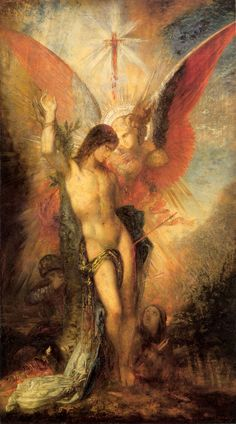 """Gustave Moreau St. Sebastian and the Angel 1876 """""""