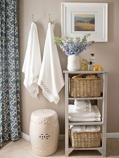 Small Bathroom Furniture & Bathroom Storage #bathroomfurniture #bathroomdecorideas