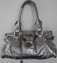 Rise-on Chloe Paddington Drak Brown Leather Handbag Shoulder Bag