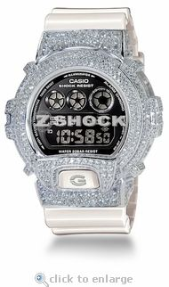 The Premier Alpine Custom G-Shock with ZShock Bezel G Shock Watches, White Gold, Bling, Sterling Silver, Accessories, Jewelry, Jewellery Making, Jewels, Jewlery