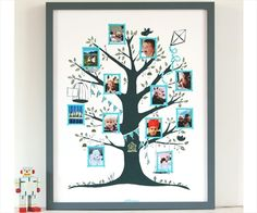 Aile Ağacı Resimliği Mavi  Kızının aile resimlerine olan merakı Famille Summerbelle'nin tasarımcısı Juie'nin aklına harika bir fikir getirmiş.