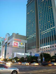 Busan Lotte Hotel Busan Korea, Skyscraper, Times Square, Multi Story Building, Travel, Skyscrapers, Viajes, Destinations, Traveling