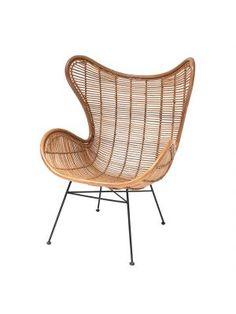 Rotan egg chair - oranje, HK Living