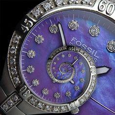 Fossil watch with Droste/Escher effect. photo by fpsurgeon