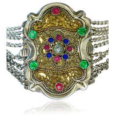 Antike Kropfkette, Collier de Chien oder Choker in Silber für das Dirndl - der edle Halsschmuck zur Tracht. Die hübsche Kropfkette ist 39 cm  #kette #halsband #necklace #bavarian #silver #dirndl