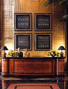 Lobby at Park Hyatt Johannesburg, interior designed by HBA/Hirsch Bedner Associates