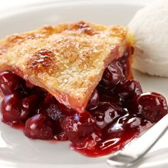 This recipe for sour cherry pie is made with a homemade double pastry crust.. Sour Cherry Pie Recipe from Grandmothers Kitchen.