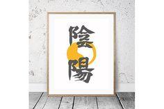 "Japanese Calligraphy ""Yin-Yang"". Non Western Fonts. $75.00"