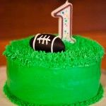 "Simple ""turf"" cake-football, soccer, rugby, lacrosse theme"