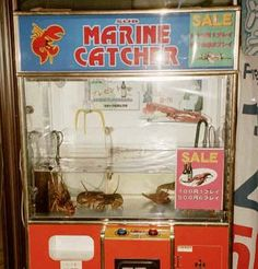 The live lobster vending machine (in Japan of course) Alva Noto, Japanese Urban Legends, Vending Machines In Japan, Joe Crab Shack, Future Earth, Live Lobster, Local Pizza, Pizza Joint, Claw Machine
