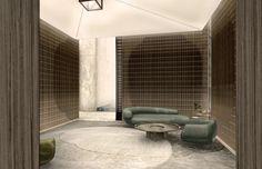 Interior Walls, Interior Design Living Room, Modern Interior, Living Room Designs, Lobby Lounge, Hotel Lobby, Function Room, Interior Concept, Lobbies