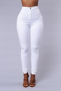 - Super High Waisted - Round Pocket - Skinny Leg - Great Stretch and Quality - Made in USA - 97% Cotton 3% Spandex