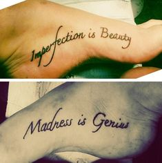 Couples Tattoos Ideas – Inner Foot Tattoos, newest addition. Famous Marilyn Monroe Quote - awesome Couples Tattoos Ideas – Inner Foot Tattoos, newest addition. Couple Tattoos, Love Tattoos, Unique Tattoos, Beautiful Tattoos, New Tattoos, Small Tattoos, Tatoos, Random Tattoos, Anchor Tattoos