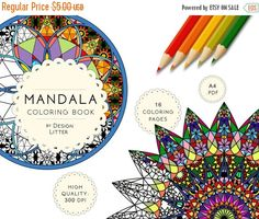 Shop for adult coloring book on Etsy, the place to express your creativity through the buying and selling of handmade and vintage goods. Coloring Sheets, Adult Coloring, Coloring Books, Coloring Pages, Colouring, Mandala Book, Mandala Coloring, Colored Pencils, Color Patterns