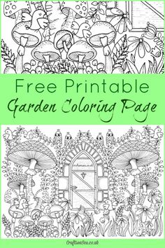 20 Free Printable Gardening Adult Coloring Pages - Money Saving Mom®