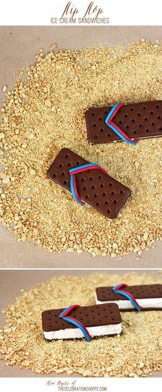 Pour l'été, la glace façon tong, on en redemande :D #kiri #recette #fun #kids #food #enfant #rigolo #gouter #snack #glace