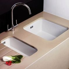 Astini Hampton 150 1.5 Bowl White Ceramic Undermount Kitchen Sink U0026 Waste  Set   Astini From