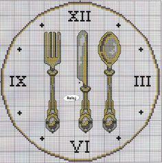 orologio posate argento