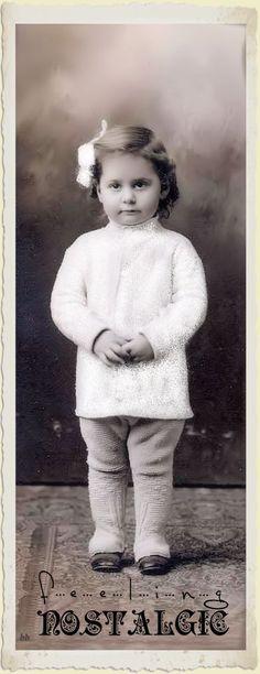 Brocante Brie, bewerkte foto vintage meisje