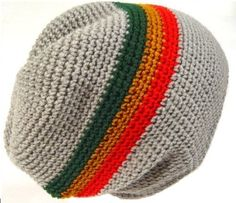 POM London Handmade Crochet Baggy Beanie Hat (Grey, Red, Gold, Green) >>> You can get more details by clicking on the image.