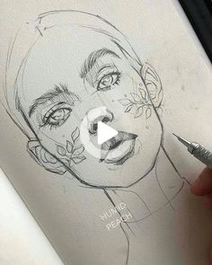 Art by @humid_peach  Follow @portrait_viral for more art!   Check out: @arts_promoter  @art_viral #drawing #drawingideas Art Drawings Sketches Simple, Pencil Art Drawings, Drawing Tips, Cool Drawings, Drawing Tutorials, Drawing Ideas, Drawing Faces, Drawing Art, Portrait Sketches