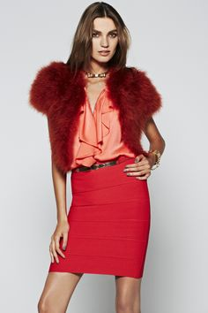 #festivefaves BCBG Bess Cropped Marabou-Feather Jacket $160.80 @BCBG MAX AZRIA #NewYears #NYE