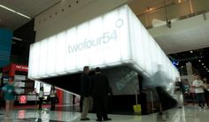 twofour54 Trade Show Booth, Abu Dhabi UAE  Design: Diller Scofidio + Renfro Panelite  Bonded Series translucent honeycomb panels  B-TCCTS Bonded Series Core: Tubular Clear / Facing: Clear, Transparent one side, Satin one side
