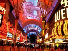 Fremont Street, Las Vegas, Nevada. I love the Fremont Street Experience.