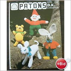 1370 Patons Knitting Toy Pattern Gnome, March Hare, Lamb DK on eBid United Kingdom