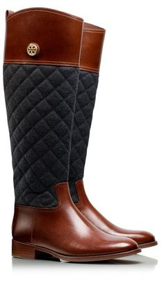 Quilted riding boots // Tory Burch