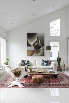 Gloria – Blogit | Pieni talo Helsingissä – Mirkan kaunis koti Decor, Flooring, House, White Floors, Home Decor, Room, White